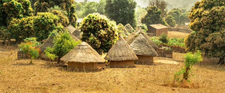 huts in the gambia