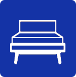 Blue bed icon